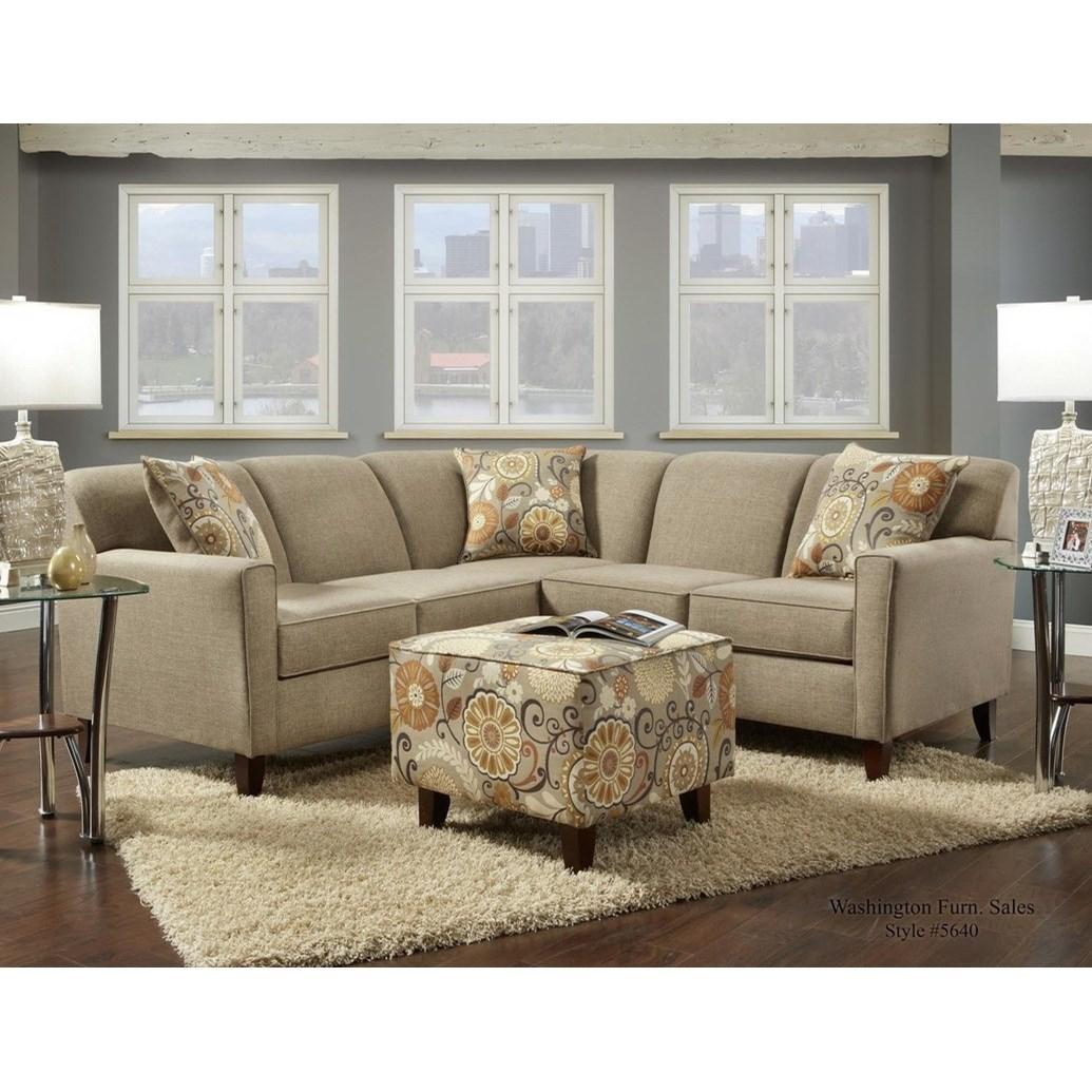 5640 Washington 4 Seat Sectional by Washington Furniture at Lynn's Furniture & Mattress