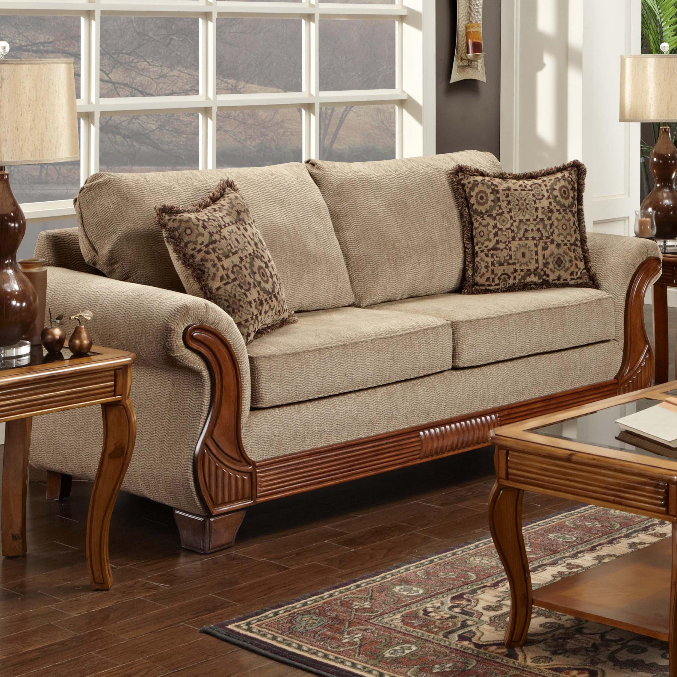 7000 Stationary Sofa by Washington Furniture at Lynn's Furniture & Mattress