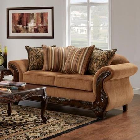 7680 Love Seat by Washington Furniture at Lynn's Furniture & Mattress
