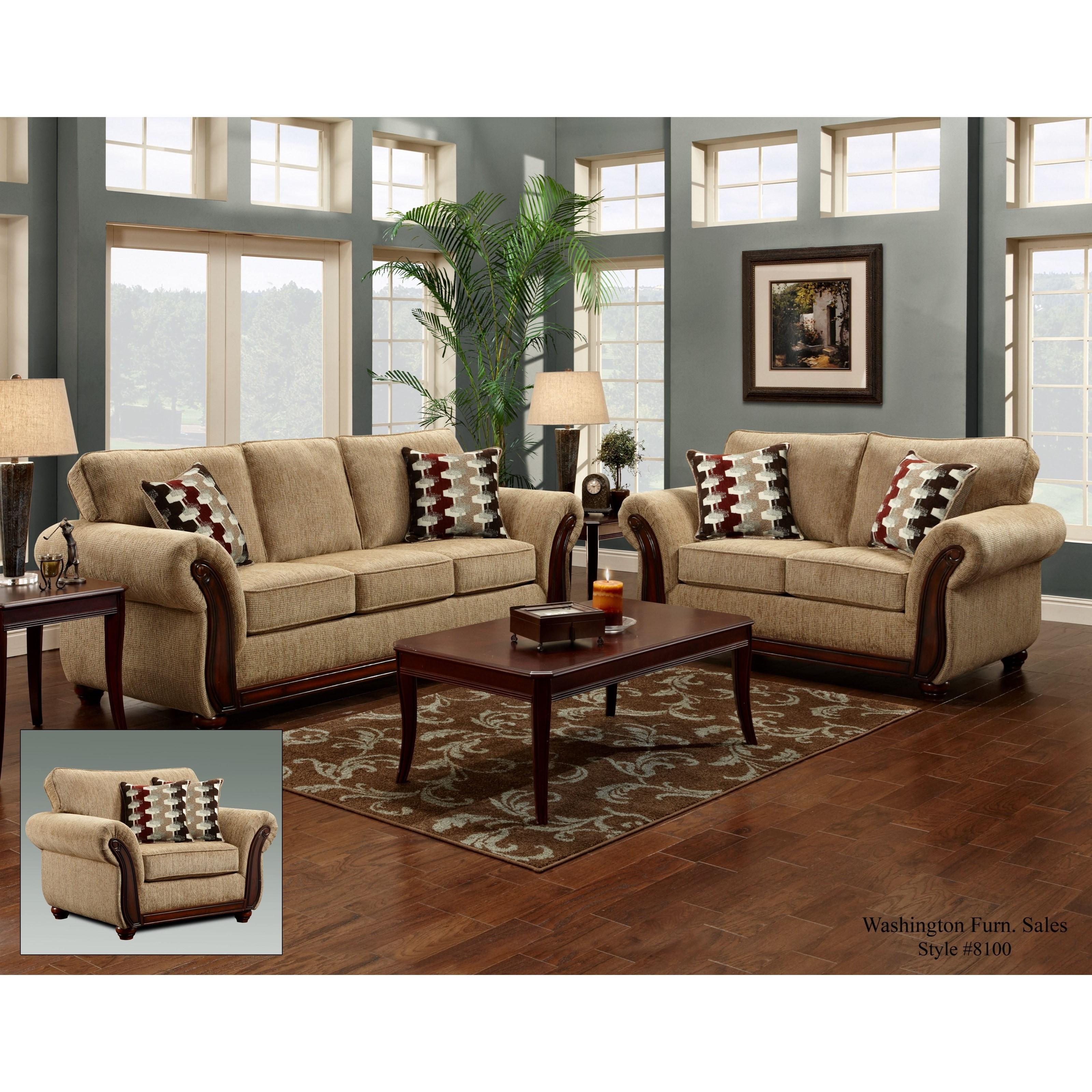8100 Washington Stationary Living Room Group by Washington Furniture at Lynn's Furniture & Mattress