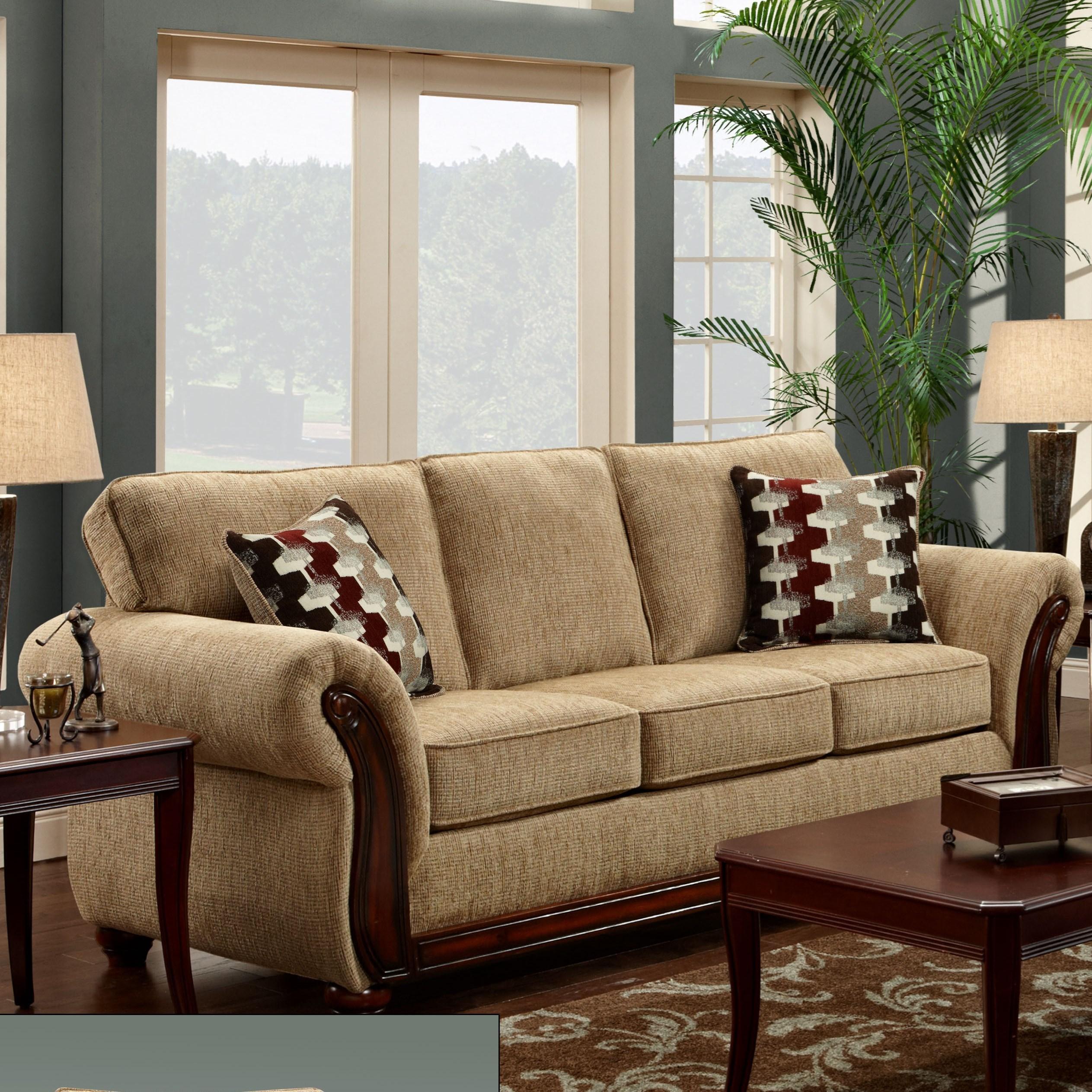 8100 Washington Sofa by Washington Furniture at Lynn's Furniture & Mattress