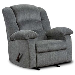 Casual Recliner with Pillow Arms