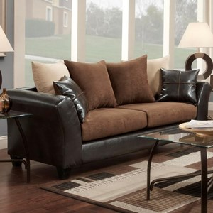 Contemporary Sofa with Loose-Pillow Back
