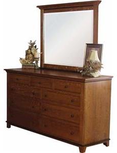 9 Drawer Dresser & Mirror