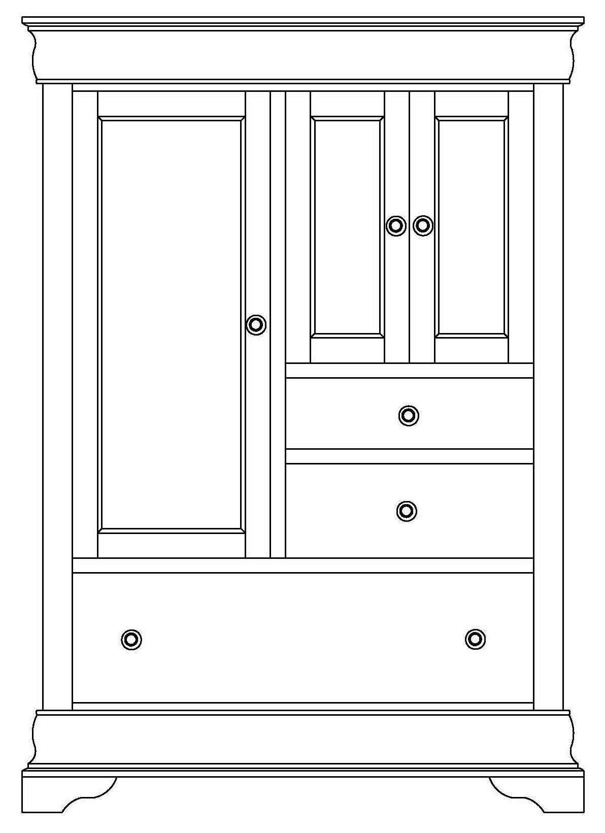 Chateau Armoire 3 Door, 3 Drawer by Wayside Custom Furniture at Wayside Furniture