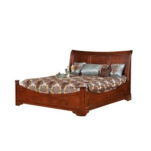 King Sleigh Bed With Side Storage