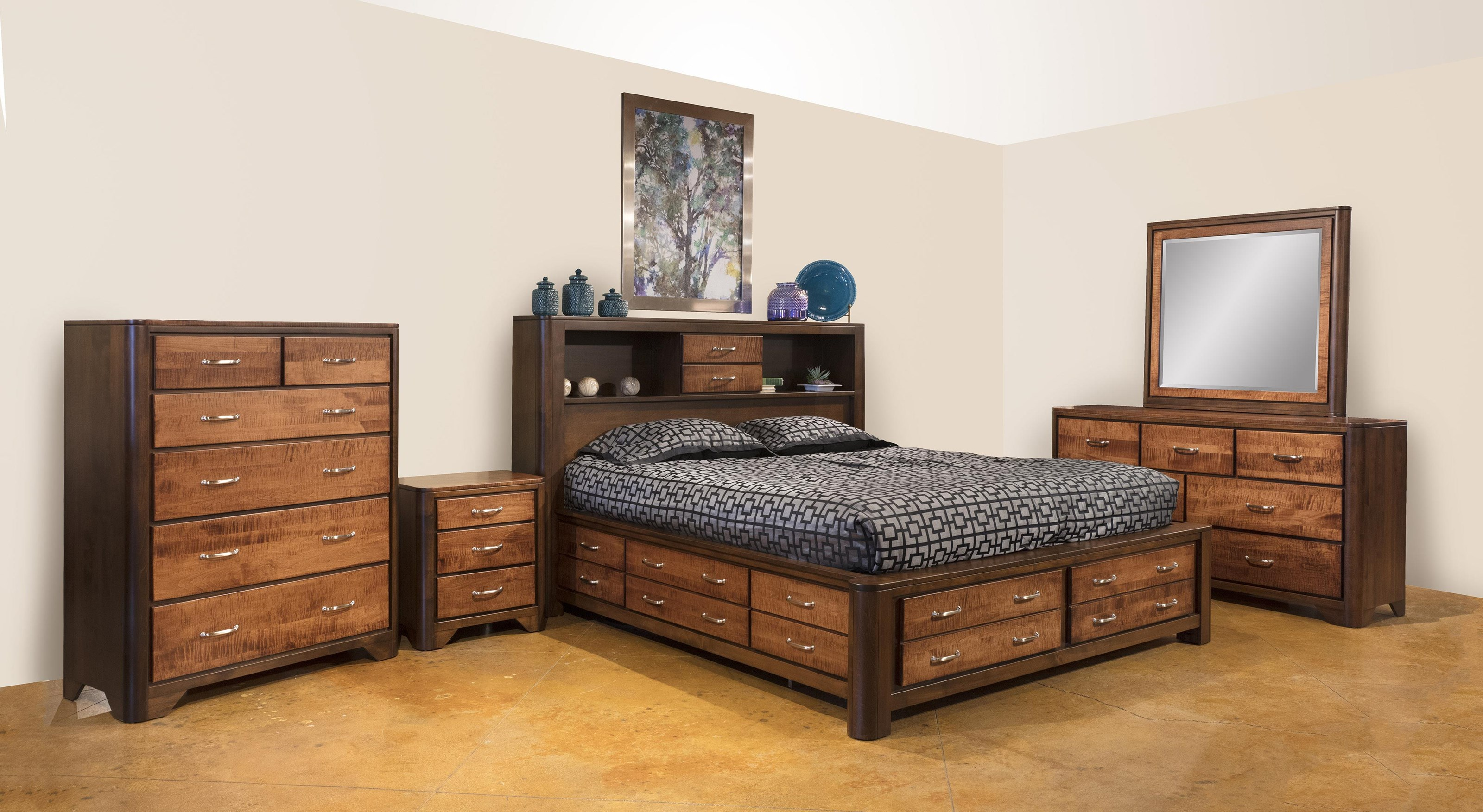 London 5pc Queen Bedroom Group by Wayside Custom Furniture at Wayside Furniture