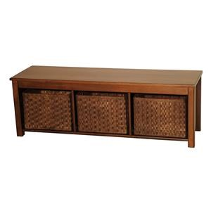 Contemporary Hall Bench with Baskets