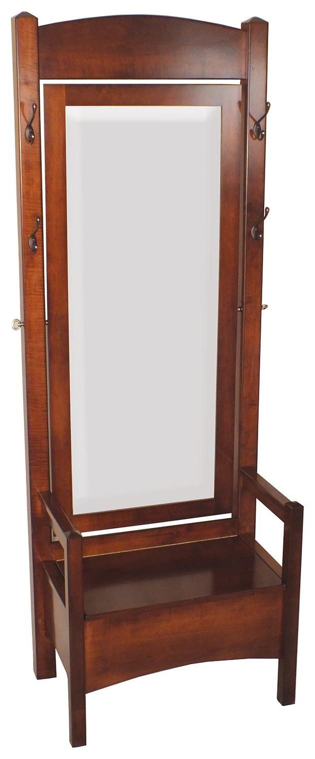Hall Seats Swivel Mirror Hall Seat by Wayside Custom Furniture at Wayside Furniture