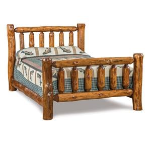 Queen Log Bed