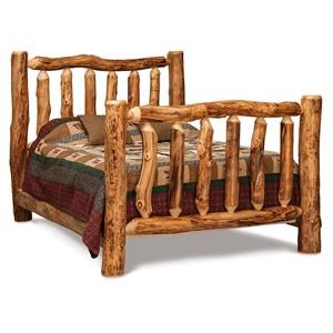 Queen High Log Bed