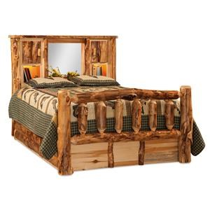 King Bookcase Storage Bed