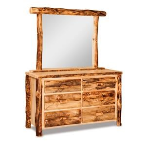 Small 6 Drawer Dresser & Mirror