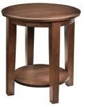 """Deluxe Shaker 22"""" Round End Table by Wayside Custom Furniture at Wayside Furniture"""