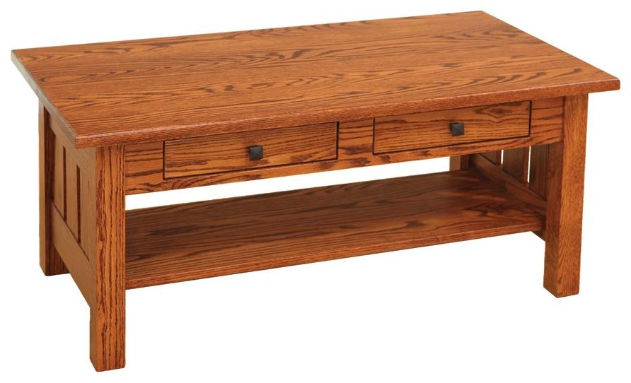 Canted Mission Cocktail Table by Wayside Custom Furniture at Wayside Furniture