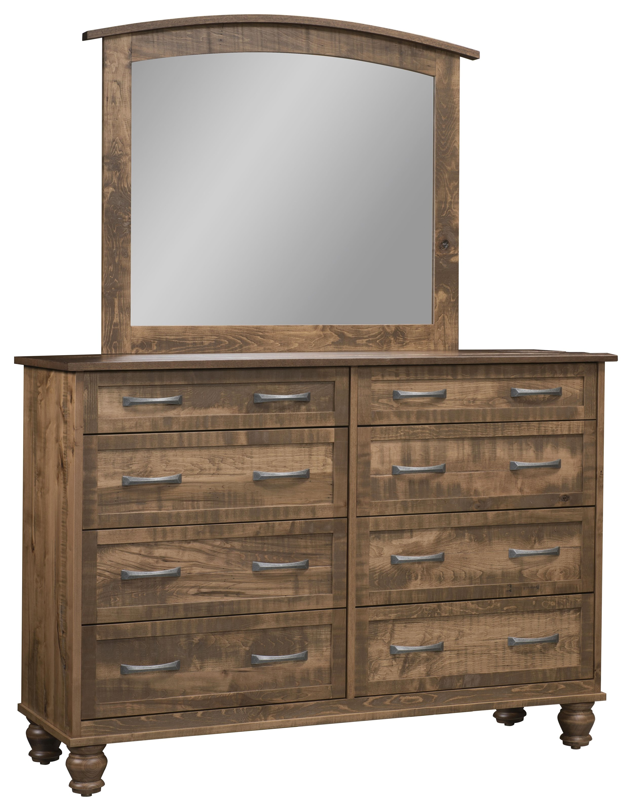Carson 8 Drawer Mule Dresser & Mirror at Wayside Furniture