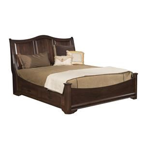 Queen Sleigh Bed With Side Storage