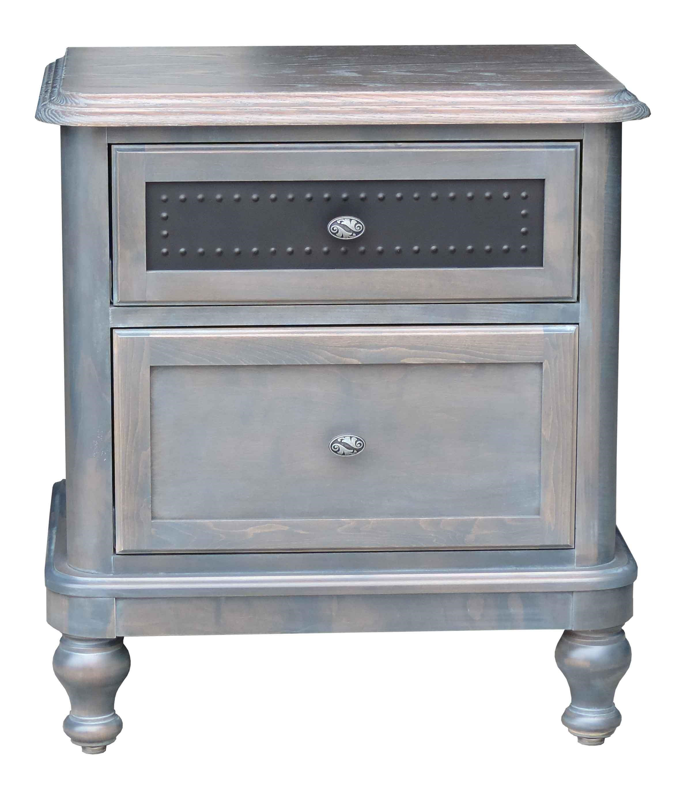 Tribecca 2 Drawer Night Stand by Wayside Custom Furniture at Wayside Furniture