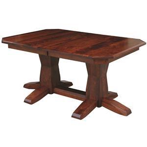 Bevel Shaker Double Pedestal Table