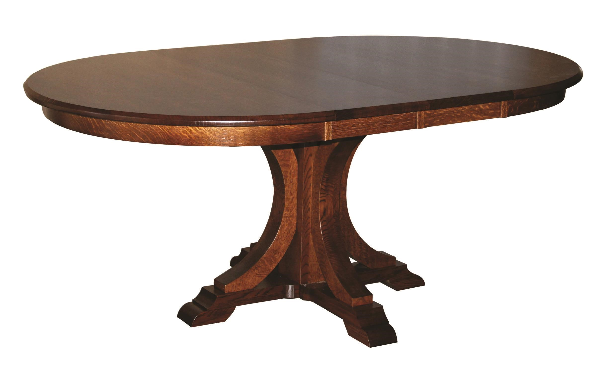 Kountry Knob Buckeye Single Pedestal Table by Wayside Custom Furniture at Wayside Furniture