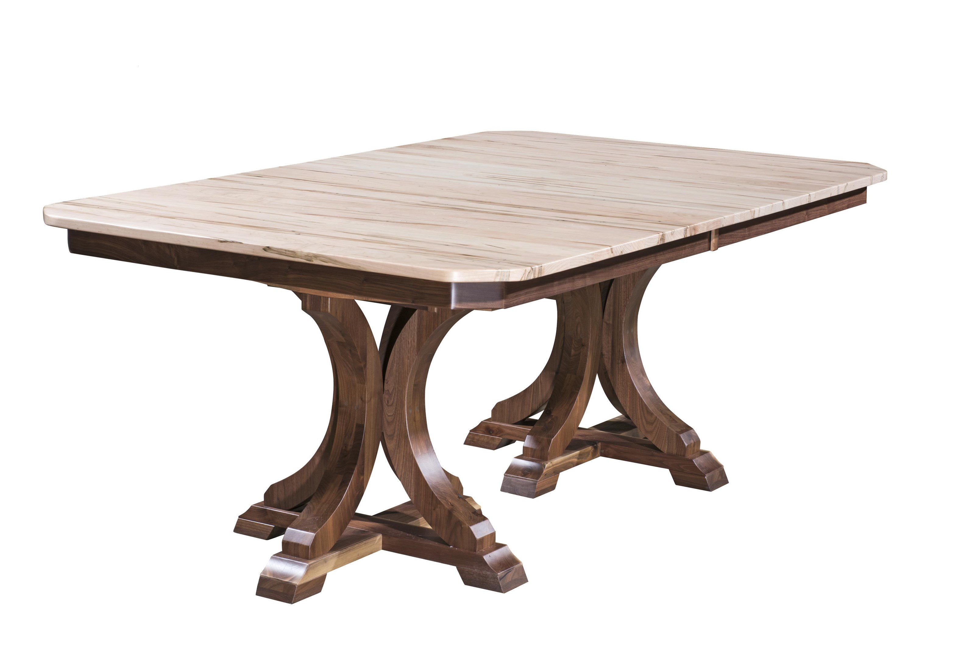 Kountry Knob Corsica Double Pedestal Table by Wayside Custom Furniture at Wayside Furniture