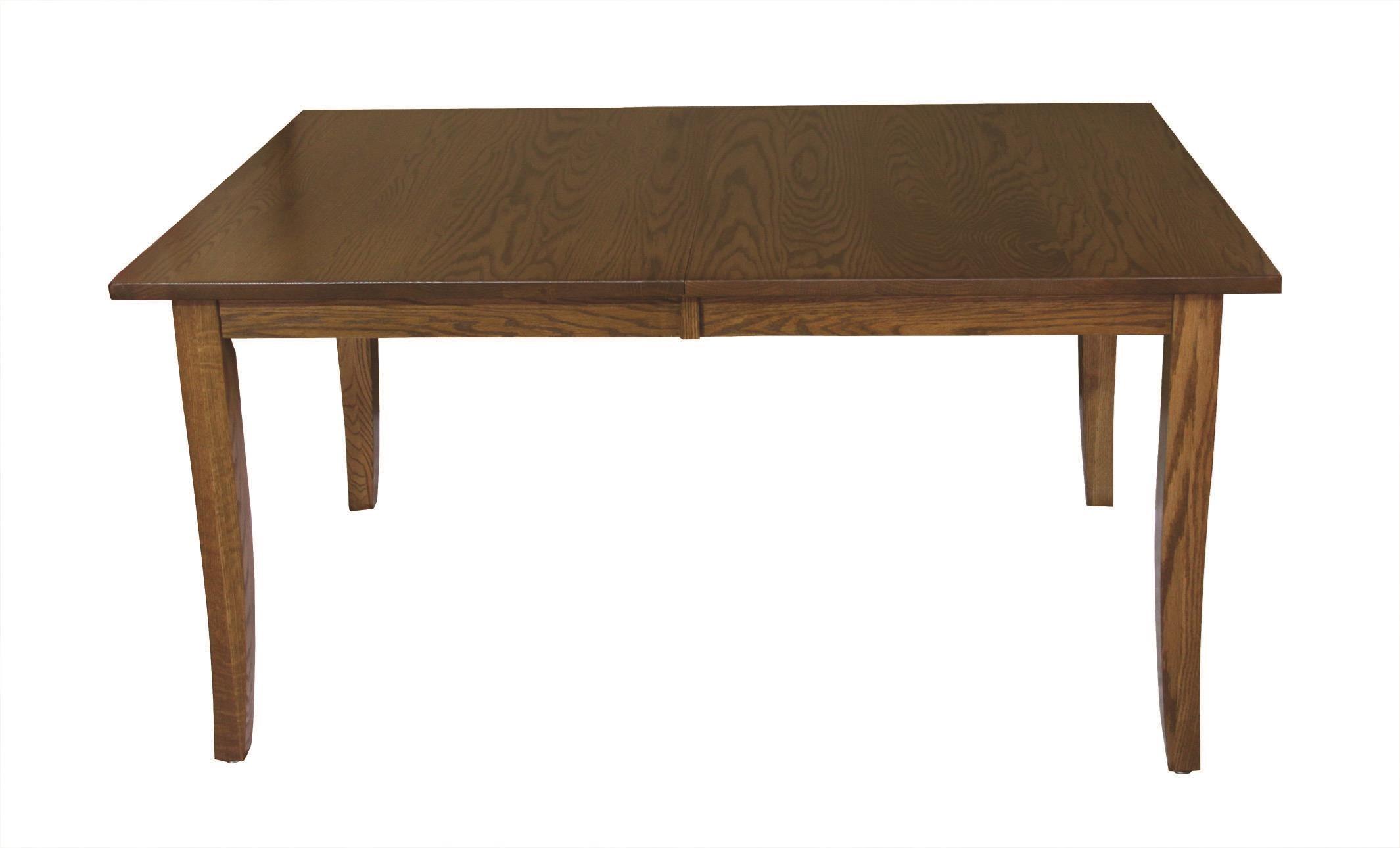 Kountry Knob Curved Shaker Leg Table by Wayside Custom Furniture at Wayside Furniture