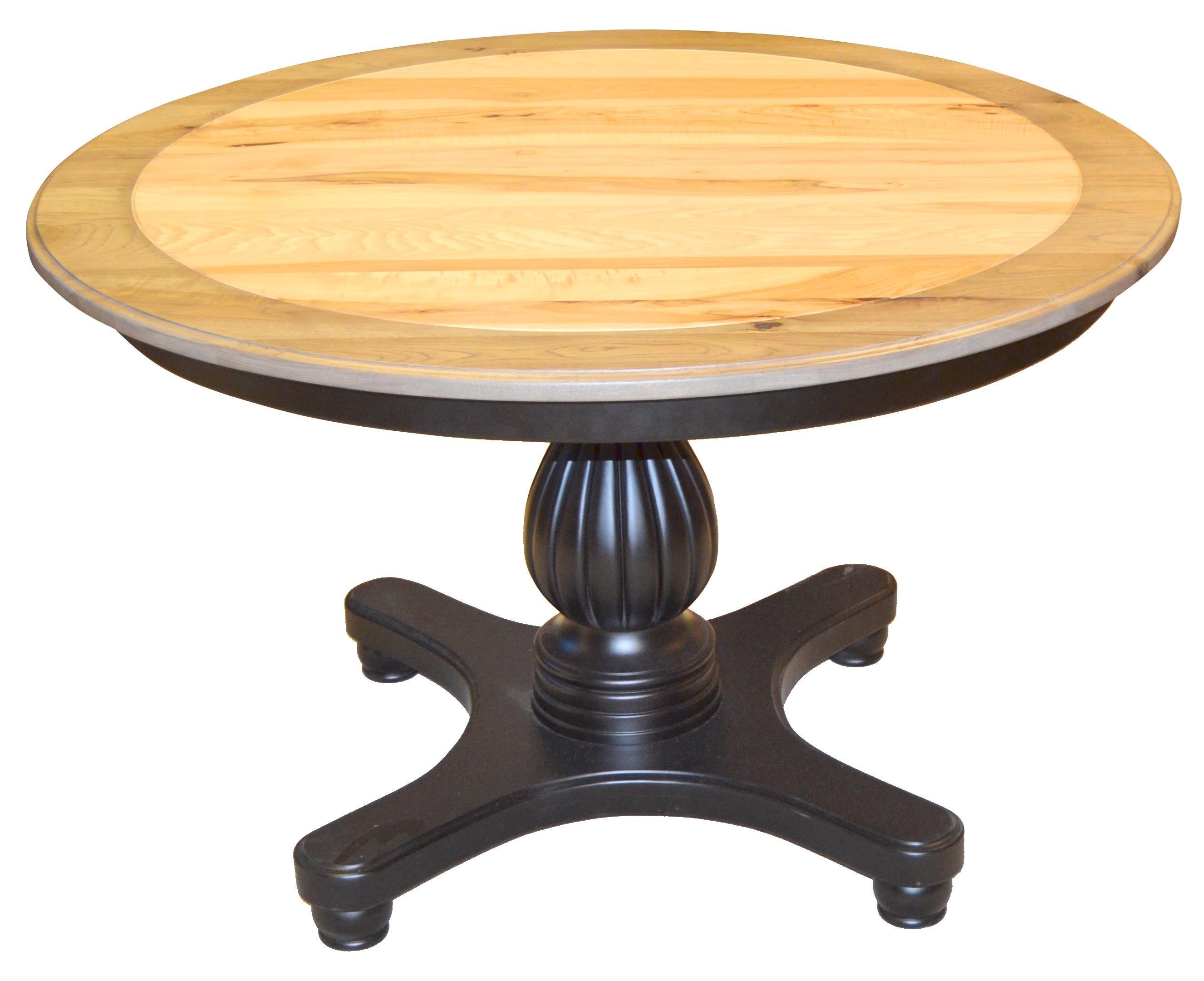 Kountry Knob Provence Single Pedestal Table by Wayside Custom Furniture at Wayside Furniture