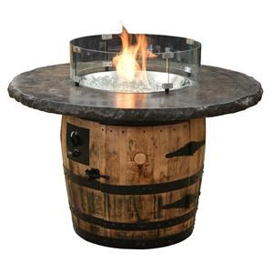 Fire Pit Barrel Table