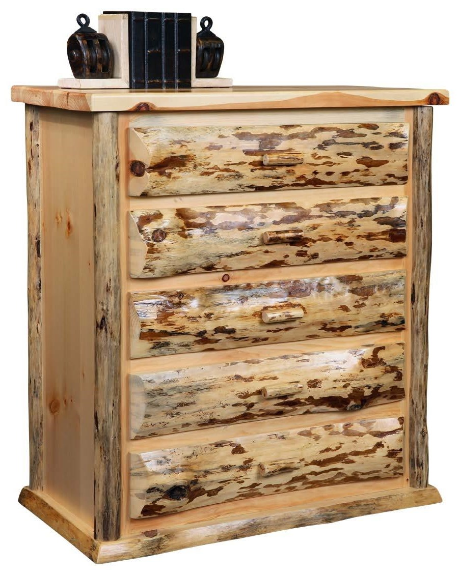 Frontier 5 Drawer Chest by Wayside Custom Furniture at Wayside Furniture