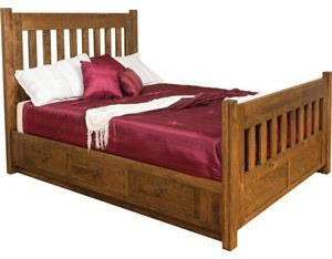 Queen Bed with Side Storage