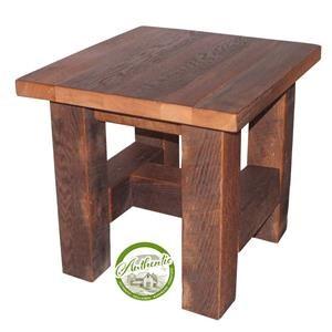 Reclaimed Barnwood End Table
