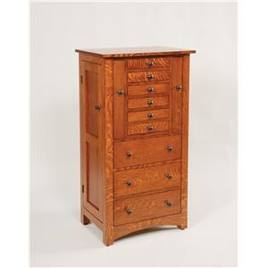 "48"" Deluxe Flush Mission Jewelry Armoire"