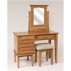 Shaker Vanity & Mirror