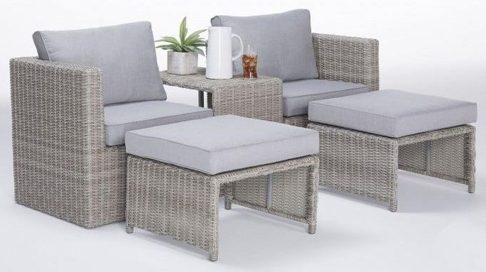 Patio Furniture 5 PC Lounge Set by Wayside Furniture at Wayside Furniture