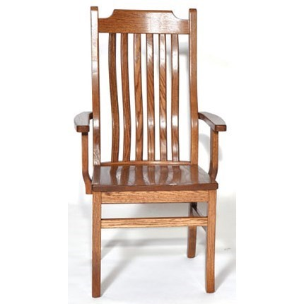 Custom Amish Dining 76C Mission Arm Chair by Weaver Woodcraft at Saugerties Furniture Mart