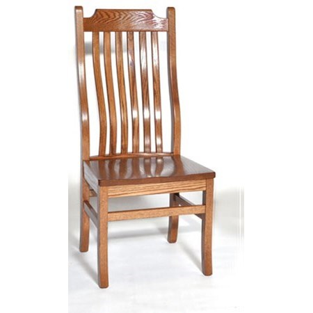 Custom Amish Dining 76C Mission Side Chair by Weaver Woodcraft at Saugerties Furniture Mart