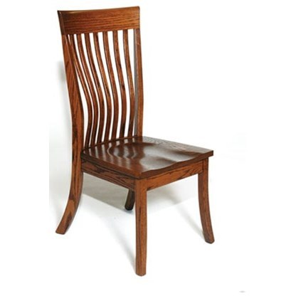 Custom Amish Dining Christy Side Chair by Weaver Woodcraft at Saugerties Furniture Mart