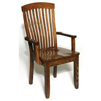 Custom Amish Dining Empire Arm Chair by Weaver Woodcraft at Saugerties Furniture Mart