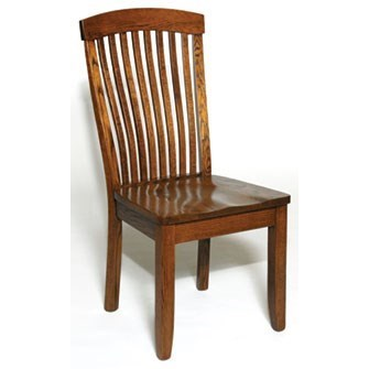 Custom Amish Dining Empire Side Chair by Weaver Woodcraft at Saugerties Furniture Mart