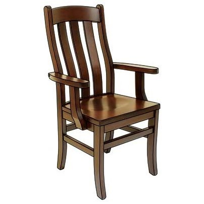 Custom Amish Dining Fostoria Arm Chair by Weaver Woodcraft at Saugerties Furniture Mart