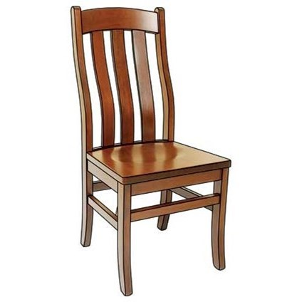 Custom Amish Dining Fostoria Side Chair by Weaver Woodcraft at Saugerties Furniture Mart
