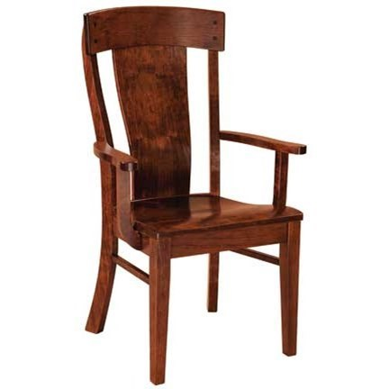 Custom Amish Dining Lacombe Arm Chair by Weaver Woodcraft at Saugerties Furniture Mart