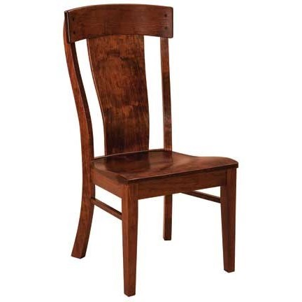Custom Amish Dining Lacombe Side Chair by Weaver Woodcraft at Saugerties Furniture Mart