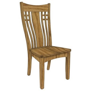 Custom Amish Dining Larson Side Chair by Weaver Woodcraft at Saugerties Furniture Mart