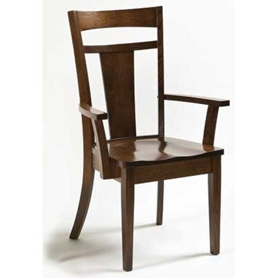 Custom Amish Dining Livingston Arm Chair by Weaver Woodcraft at Saugerties Furniture Mart