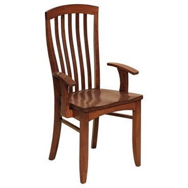 Custom Amish Dining Malibu Arm Chair by Weaver Woodcraft at Saugerties Furniture Mart