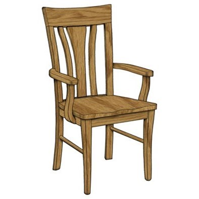 Custom Amish Dining Metro Arm Chair by Weaver Woodcraft at Saugerties Furniture Mart