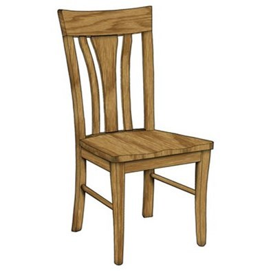 Custom Amish Dining Metro Side Chair by Weaver Woodcraft at Saugerties Furniture Mart