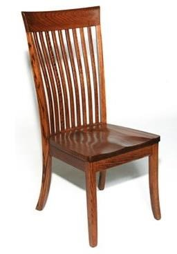 Custom Amish Dining OW Shaker Side Chair by Weaver Woodcraft at Saugerties Furniture Mart