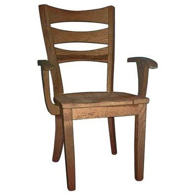 Custom Amish Dining Sierra Arm Chair by Weaver Woodcraft at Saugerties Furniture Mart